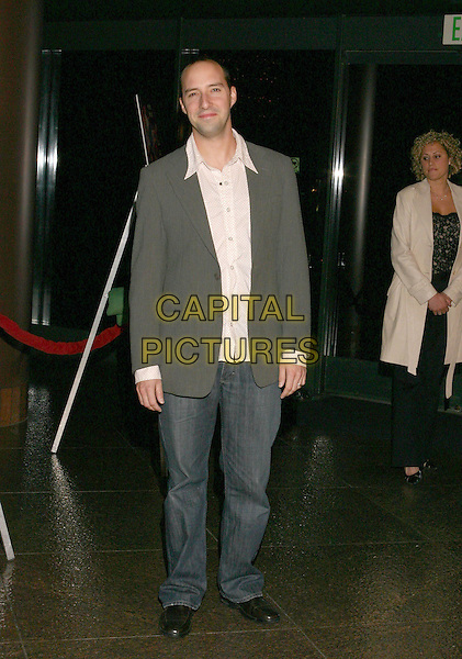 TONY HALE.Lackawanna Blues - HBO Screening held at The Directors Guild of America. West Holllywood, California..Photo Credit: Zach Lipp/AdMedia.February 3rd, 2005.full length jeans denim grey gray suit jacket.www.capitalpictures.com.sales@capitalpictures.com.© Capital Pictures.