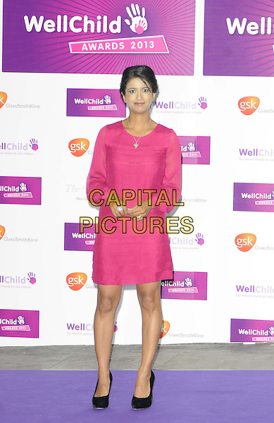 Konnie Huq<br /> The WellChild Awards 2013, The Dorchester, London, England.<br /> September 11th, 2013<br /> full length pink dress sheer <br /> CAP/CAN<br /> &copy;Can Nguyen/Capital Pictures