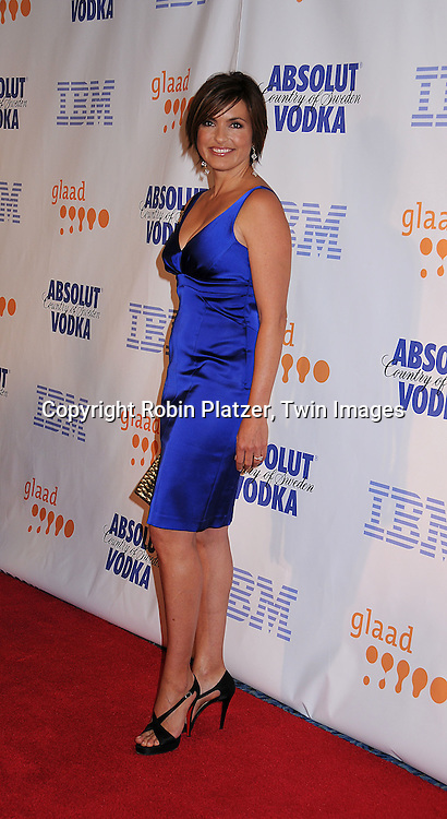Mariska Hargitay in David Meister dress.posing for photographers at the 19th Annual GLAAD Media Awards on March 17, 2008 at The Marriott Marquis Hotel in New York City. .Robin Platzer, Twin Images