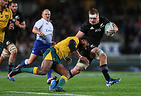 Sam Cane in action during the Bledisloe Cup Rugby match between the New Zealand All Blacks and Australia Wallabies at Eden Park in Auckland, New Zealand on Saturday, 17 August 2019. Photo: Simon Watts / lintottphoto.co.nz