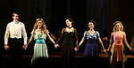 Gabriel Ebert, Charlotte Parry, Elizabeth McGovern, Anna Camp and Anna Baryshnikov during the Broadway Opening Night performance Curtain Call Bows for The Roundabout Theatre Company production of 'Time and The Conways'  on October 10, 2017 at the American Airlines Theatre in New York City.