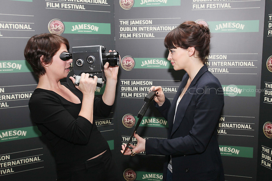 25/1/2011. Jameson Dublin International Film Festival Actors Maura Tierney (ER, Liar Liar) and Charlene McKenna (Raw, Dorothy Mills} are pictured at the Merrion hotel for the launch of the launch 9th Jameson Dublin International Film Festival Programme. The full programme will be available on the website www.jdiff.com from midnight on 25th Jan, with tickets going on sale online and through the ticketing office on 01 687 7974. The festival also has a new free iPhone and Android app to download for a full list of festival events. The Jameson Dublin International Film Festival, Ireland's premiere film event, takes place from the 17th-27th February 2011. For these 11 days Picture James Horan/Collins