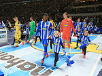 16.03.2019, OLympiastadion, Berlin, GER, DFL, 1.FBL, Hertha BSC VS. Borussia Dortmund, <br /> DFL  regulations prohibit any use of photographs as image sequences and/or quasi-video<br /> <br /> im Bild Salomon Kalou  (Hertha BSC Berlin #8), Rune Jarstein (Hertha BSC Berlin #22),<br /> Marco Reus (Borussia Dortmund #11), Roman Buerki (Borussia Dortmund #1), <br /> <br />       <br /> Foto &copy; nordphoto / Engler