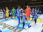 16.03.2019, OLympiastadion, Berlin, GER, DFL, 1.FBL, Hertha BSC VS. Borussia Dortmund, <br /> DFL  regulations prohibit any use of photographs as image sequences and/or quasi-video<br /> <br /> im Bild Salomon Kalou  (Hertha BSC Berlin #8), Rune Jarstein (Hertha BSC Berlin #22),<br /> Marco Reus (Borussia Dortmund #11), Roman Buerki (Borussia Dortmund #1), <br /> <br />       <br /> Foto © nordphoto / Engler