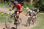 June 7, 2014 - Vail, Colorado, U.S. - Team Specialized rider, Todd Wells #2034, takes the lead on a brutal climb in Pro Mountain Bike competition during the GoPro Mountain Games, Vail, Colorado.   Adventure athletes from around the world converge on Vail, Colorado, June 5-8, for America's largest celebration of adventure sports, music and the mountain lifestyle.