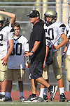 Beverly Hills, CA 09/23/11 - Coach Hangartner in action during the Peninsula-Beverly Hills frosh football game at Beverly Hills High School.