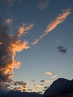 Abendhimmel &uuml;ber Innsbruck, Tirol, &Ouml;sterreich, Europa<br /> Evening sky,   Innsbruck, Tyrol, Austria, Europe
