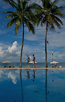 Pool and a resort setting in Palau, Micronesia