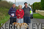 WALKING: Niall O'Connell, Betty O'Connor and Dan McCarthy who walked up to the Abbeydorney coursing on Saturday.......... ..............................   Copyright Kerry's Eye 2008