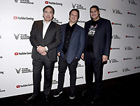 LOS ANGELES - DECEMBER 6: (L-R) Chairman of SIE Worldwide Studios Shawn Layden, EVP of Gaming at Microsoft Phil Spencer and President and COO of Nintendo of America Reggie Fils-Aime attend the 2018 Game Awards at the Microsoft Theater on December 6, 2018 in Los Angeles, California. (Photo by Scott Kirkland/PictureGroup)