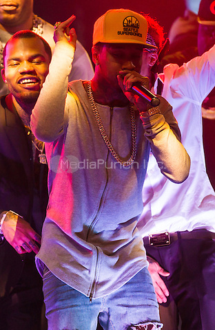 LAS VEGAS, NV - MAY 2: Tyga pictured as Chris Brown performs at Draiís Nightclub at The Cromwell in Las Vegas, NV on May 2, 2015. Credit: Erik Kabik Photography/MediaPunch