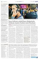 Die Presse (Austrian daily) on Bulgarian telecommunication, 2011.01.24. Photo: Tomislav Georgiev
