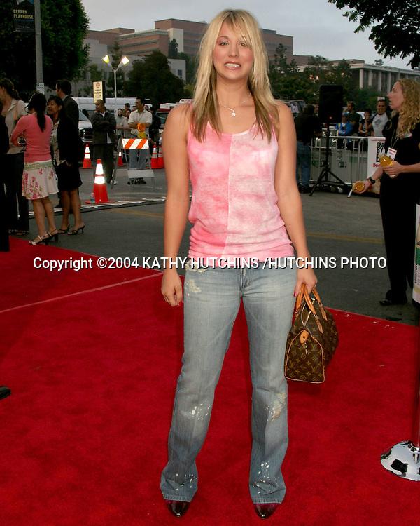 "©2004 KATHY HUTCHINS /HUTCHINS PHOTO.""DODGEBALL"" PREMIERE.WESTWOOD, CA.JUNE 14, 2004..KALEY CUOCO"