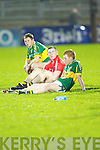 A disappointed Kerry team after losing to Cork in the Munster U21 Football Championship Final held on Wednesday night in Pairc Ui Rinn Cork.