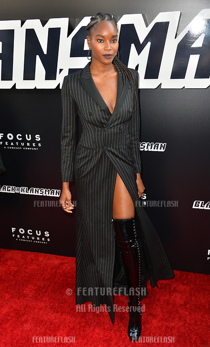 """Damaris Lewis at the Los Angeles premiere of """"BlacKkKlansman"""" at the Academy's Samuel Goldwyn Theatre, Beverly Hills, USA 08 Aug. 2018<br /> Picture: Paul Smith/Featureflash/SilverHub 0208 004 5359 sales@silverhubmedia.com"""
