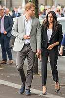 Prince Harry and Meghan, The Duke and Duchess of Sussex at the bank of the River Liffey in Dublin, on July 11, 2018, at the Famine Memorial on the last of a 2 days visit to Dublin  <br /> Photo : Albert Nieboer / /DPA /MediaPunch ***FOR USA ONLY***
