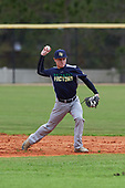 Nicholas Marcketta (8) of Toms River, New Jersey during the Baseball Factory All-America Pre-Season Rookie Tournament, powered by Under Armour, on January 13, 2018 at Lake Myrtle Sports Complex in Auburndale, Florida.  (Michael Johnson/Four Seam Images)