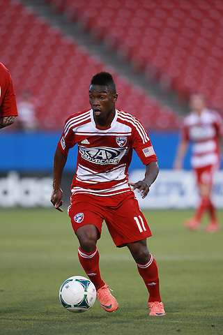 Frisco, TX - JUNE 12: Fabian Castillo #11 of FC Dallas in action against the Houston Dynamo at FC Dallas Stadium in Frisco on June 12, 2013 in Frisco, Texas. Photo by Rick Yeatts