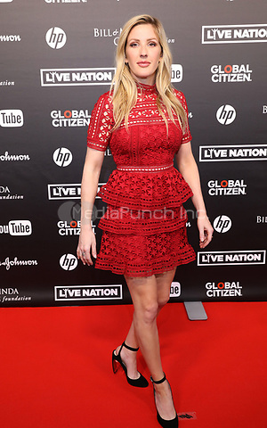 British singer Ellie Goulding arrives to the first Global Citizen Festival Concert in Hamburg, Germany, 06 July 2017. The G20 Summit of the heads of government and state takes place on 7 and 8 July 2017 in Hamburg. Photo: Georg Wendt/dpa /MediaPunch ***FOR USA ONLY***