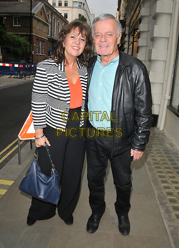"""Debbie Blackburn and Tony Blackburn at the """"The Gatekeeper"""" by Russ Kane book launch party, The Wellington Club, Jermyn Street, London, England, UK, on Thursday 30th May 2019.<br /> CAP/CAN<br /> ©CAN/Capital Pictures"""