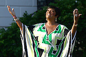Singer Patti LaBelle performs at a White House event to commemorate the 20th Anniversary of the Americans with Disabilities Act, Monday,  July 26, 2010 in Washington, DC. United Stares President Barack Obama signed an executive order marking the anniversary. .Credit: Win McNamee - Pool via CNP