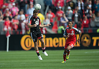 05 May 2012: D.C. United defender Chris Korb #22 and Toronto FC midfielder Reggie Lambe #19 in action during an MLS game between DC United and Toronto FC at BMO Field in Toronto..D.C. United won 2-0.