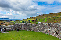 County Kerry, Ireland: Staigue fort on the Ring of Kerry, Iveragh peninsula, a stone structure from the iron age