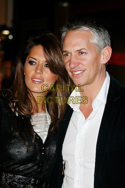 "DANIELLE BUX & GARY LINEKER .""Madagascar; Escape 2 Africa"" - UK Premiere - Outside Arrivals at Empire Leicester Square, London, England, November 23rd 2008..portrait headshot back white shirt fiance couple .CAP/DAR.©Darwin/Capital Pictures"
