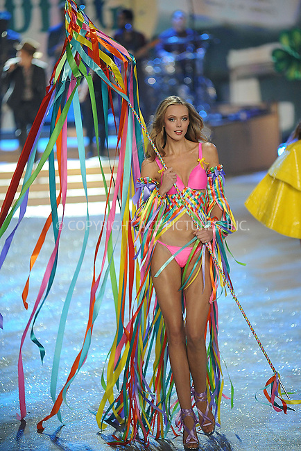 WWW.ACEPIXS.COM . . . . . .November 7, 2012...New York City....Frida Gustavsson walks the runway during the 2012 Victoria's Secret Fashion Show at the Lexington Avenue Armory on November 7, 2012 in New York City ....Please byline: KRISTIN CALLAHAN - ACEPIXS.COM.. . . . . . ..Ace Pictures, Inc: ..tel: (212) 243 8787 or (646) 769 0430..e-mail: info@acepixs.com..web: http://www.acepixs.com .