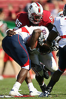 14 October 2006: Michael Okwo makes a tackle during Stanford's 20-7 loss to Arizona during Homecoming at Stanford Stadium in Stanford, CA.