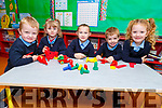 Junior infants, Cody Conway, Cliona Brosnan, Megan Lyons, Ross Sugrue and Kate O'Flaherty in Clogher NS
