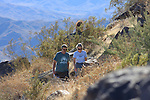 Hikers above Tahquitz Canyon in Palm Springs