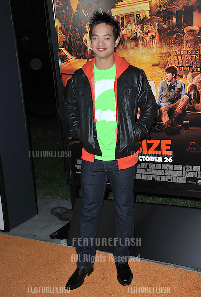 "Osric Chau at the Los Angeles premiere of his new movie ""Fun Size"" at the Paramount Theatre, Hollywood..October 25, 2012  Los Angeles, CA.Picture: Paul Smith / Featureflash"