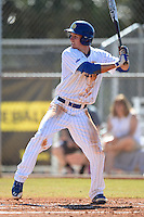 South Dakota State JackRabbits infielder Al Robbins (21) at bat during a game against the Maine Black Bears at South County Regional Park on March 9, 2014 in Port Charlotte, Florida.  Maine defeated South Dakota 5-4.  (Mike Janes/Four Seam Images)