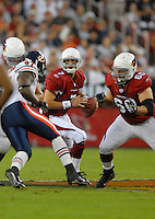 Oct. 16, 2006; Glendale, AZ, USA; Arizona Cardinals quarterback (7) Matt Leinart drops back to pass against the Chicago Bears at University of Phoenix Stadium in Glendale, AZ. Mandatory Credit: Mark J. Rebilas