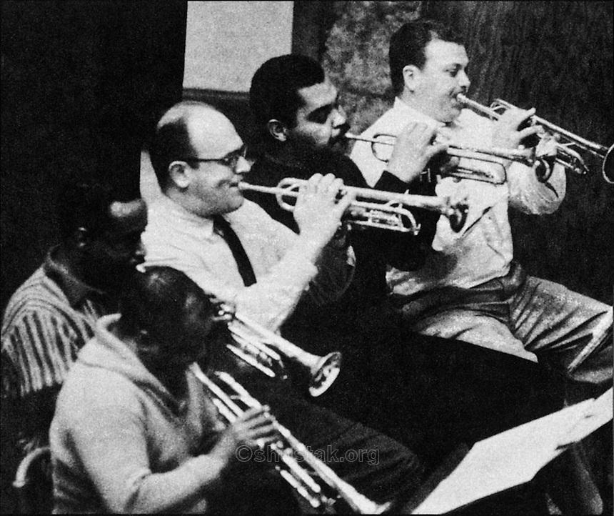 Top Brass: Charlie Shavers, Harry Edison, Bernie Glow, Art Farmer, Markie Markowitz.