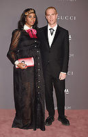 LOS ANGELES, CA - NOVEMBER 04: Singer Santigold (L) and artist Trevor Andrew attend the 2017 LACMA Art + Film Gala Honoring Mark Bradford and George Lucas presented by Gucci at LACMA on November 4, 2017 in Los Angeles, California.<br /> CAP/ROT/TM<br /> &copy;TM/ROT/Capital Pictures