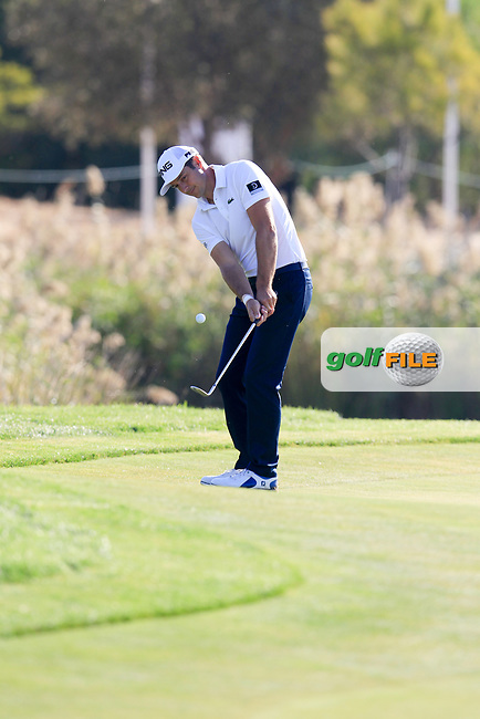 Julien Quesne (FRA) on the 17th during the 1st round of the 2017 Portugal Masters, Dom Pedro Victoria Golf Course, Vilamoura, Portugal. 21/09/2017<br /> Picture: Fran Caffrey / Golffile<br /> <br /> All photo usage must carry mandatory copyright credit (&copy; Golffile | Fran Caffrey)