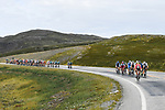 The breakaway group forms at the start of Stage 3 of the 2018 Artic Race of Norway, running 194km from Honningsvg to Hammerfest, Norway. 18th August 2018. <br /> <br /> Picture: ASO/Pauline Ballet | Cyclefile<br /> All photos usage must carry mandatory copyright credit (© Cyclefile | ASO/Pauline Ballet)