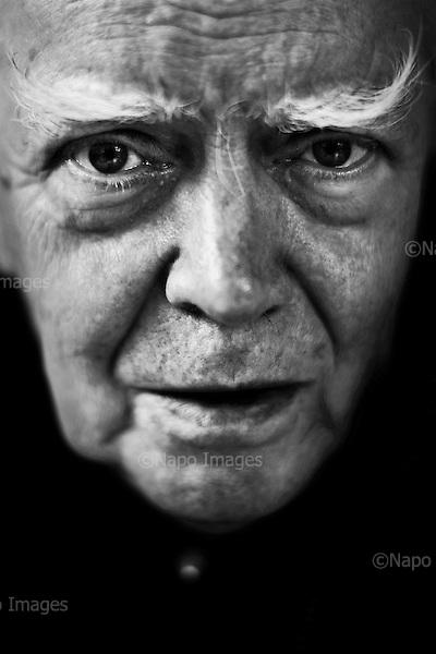 Warsaw 03 June 2009 Poland.<br /> Jaroslaw Marek Rymkiewicz - Polish poet, essayist, playwright and literary critic.<br /> <br /> (Photo by Filip Cwik / Napo Images for Newsweek Poland)<br /> <br /> Warszawa 03 czerwiec 2009 Polska.<br /> Jaroslaw Marek Rymkiewicz  polski poeta, eseista, dramaturg i krytyk literacki, tlumacz, pracownik naukowy Instytutu Badan Naukowych PAN, profesor <br /> <br /> (Fot Filip Cwik / Napo Images dla Newsweek Polska)