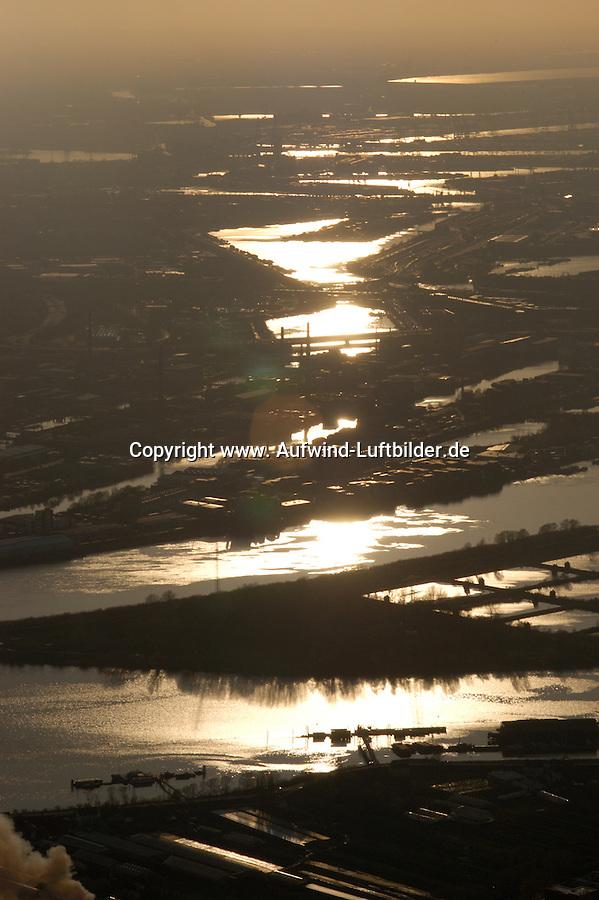 Deutschland, Hamburg, Hafen, Elbe, Blick von der Billwerder Bucht bis zum Muehlenberger Loch