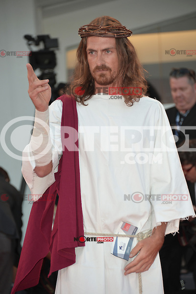 VENICE, ITALY - SEPTEMBER 07: Jesus, testimonial of PaddyPower at the 'Passion' Premiere during the 69th Venice Film Festival at the Palazzo del Casino on September 7, 2012 in Venice, Italy. &copy;&nbsp;Maria Laura Antonelli/AGF/MediaPunch Inc. ***NO ITALY*** /NortePhoto.com<br /> <br /> **CREDITO*OBLIGATORIO** *No*Venta*A*Terceros*<br /> *No*Sale*So*third*...