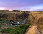Palouse Falls State Park, Washington: Early morning sky over the canyons of the Palouse River