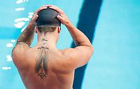 Picture by Allan McKenzie/SWpix.com - 13/12/2017 - Swimming - Swim England Winter Championships - Ponds Forge International Sport Centre - Sheffield, England - Chris Walker-Hebborn preparing to compete in the 100m backstroke.