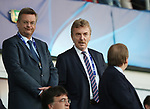 Head of the Polish Football Association Zbigniew Boniek (right) looks on during the UEFA Under 21 Final at the Stadion Cracovia in Krakow. Picture date 30th June 2017. Picture credit should read: David Klein/Sportimage
