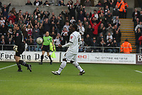 Pictured: Jason Scotland of Swansea City celebrating his equaliser from the penalty spot<br /> Re: Coca Cola Championship, Swansea City FC v Doncaster Rovers at the Liberty Stadium. Swansea, south Wales, Saturday 21 February 2009<br /> Picture by D Legakis Photography / Athena Picture Agency, Swansea 07815441513