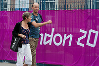 TEAM RICHARDS ENTERS THE PARK: Jonelles Mum: Lesley, and her gorgeous Fiance: Tim Price.... 2012 GBR-LONDON OLYMPIC GAMES - Friday 27 July - OPENING CEREMONY DAY.... The calm before the storm....