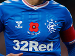 10.11.2019: Livingston v Rangers: Rangers remembrance shirt