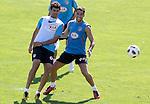 Atletico de Madrid's Diego Costa and Raul Garcia during trainning session. July 28, 2010. (ALTERPHOTOS/Alvaro Hernandez)