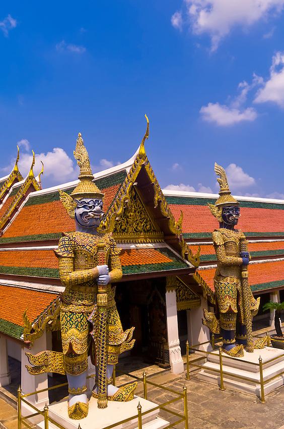Guardian statues, Grand Palace, Bangkok, Thailand